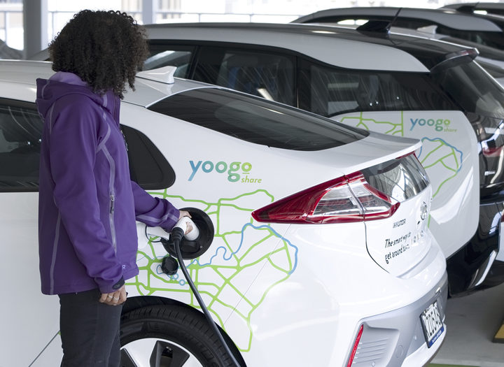 Yoogo car share vehicles, December 2018