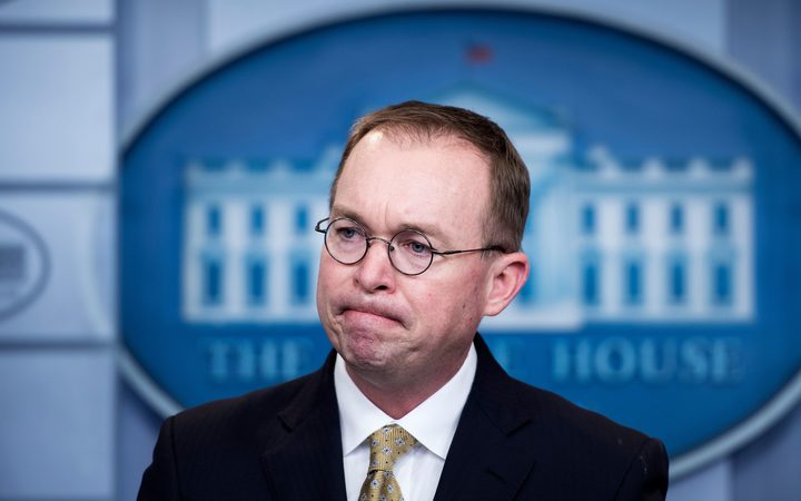 Trump names Mick Mulvaney as acting White House chief of staff