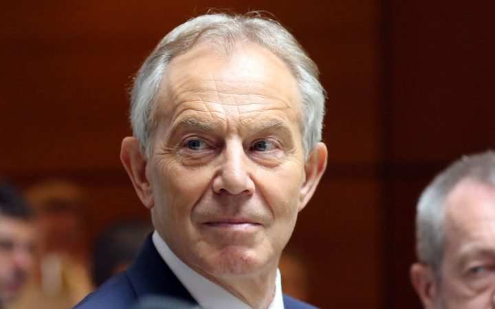 Former British prime minster Tony Blair.