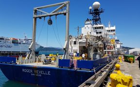 US research ship Roger Revelle in Wellington.