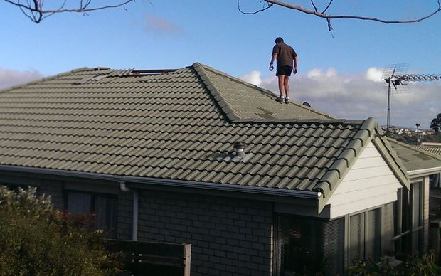 Tiles were torn from the roof at Baycrest Retirement Village in Whangaparaoa.