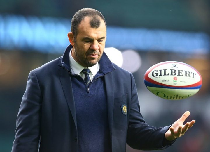 London, UK, 24 November, 2018 Australia's Coach Michael Cheika during Test between England  and Australia at Twickenham stadium , London, England on 24 Nov 2018.