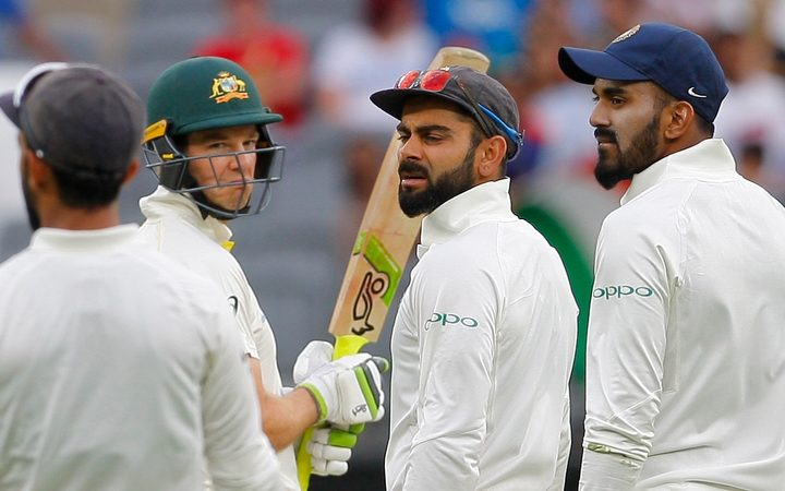 India captain Virat Kohli and Australia skipper Tim Paine were told to cool things down by the umpires during the second test in Perth.