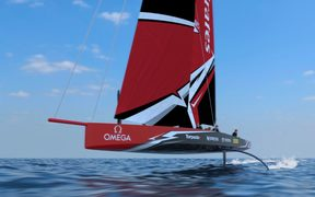 Emirates Team New Zealand concept drawings for the AC75's.
