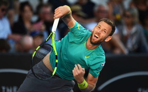 Майкл Венера в первый день мужского чемпионата ASB Classic ATP