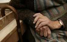 Elderly woman's hands.