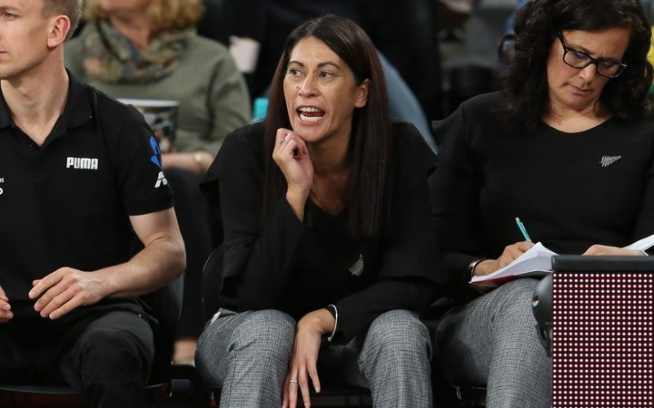 Silver Ferns coach Noeline Taurua during the Quad Series between New Zealand and Australia