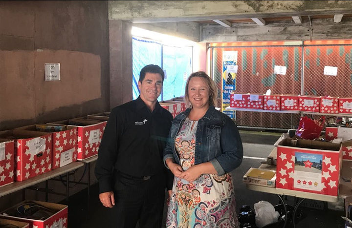 Wellington City Missioner Murray Edridge and the Mission's Community Programmes Manager Olivia Lange.