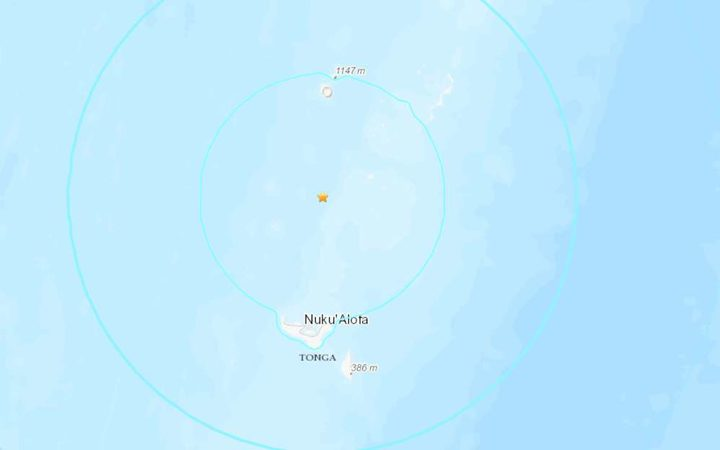 The quake struck to the norther of the capital, Nuku'alofa.
