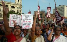 The recent rape cases have sparked marches against violence towards women.