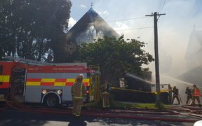 The historice St James church in Mt Eden caught fire on 30 December 2018.