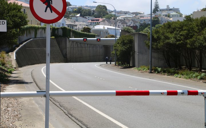 The Terrace Tunnel in Wellington has been closed off all afternoon.