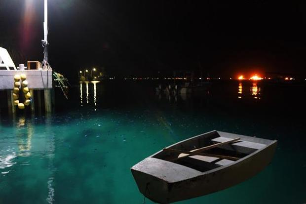 Marshall Islands, boat, water, night, wharf