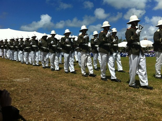 Tonga, military, parade, soldiers