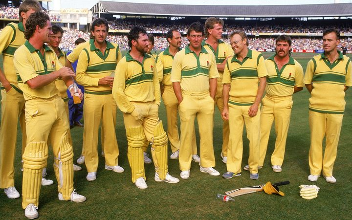 Allan Border and his 1986 Australia one day side.