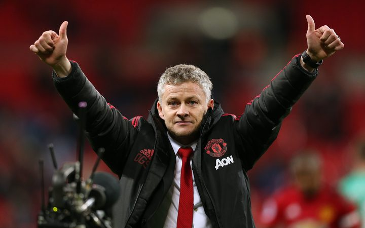 Manchester Untied Manager Ole Gunnar .