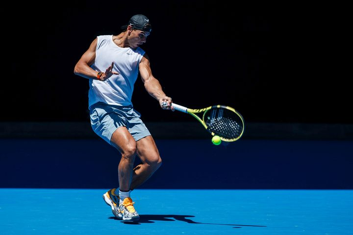 Spaniard Rafael Nadal competing at the 2019 Australian Open