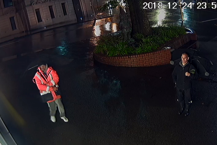 CCTV footage shows the men who took the gnome.