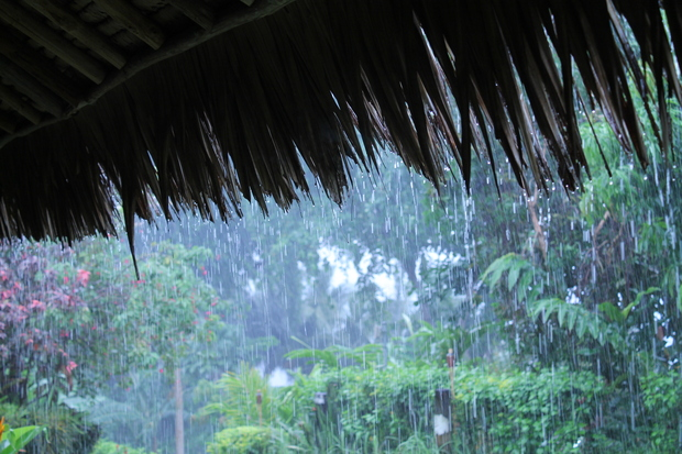 Heavy rain in Papua New Guinea.