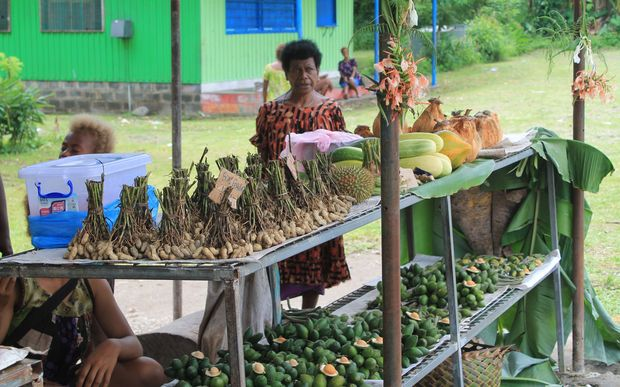 Roadside market in rural Papua New Guinea.