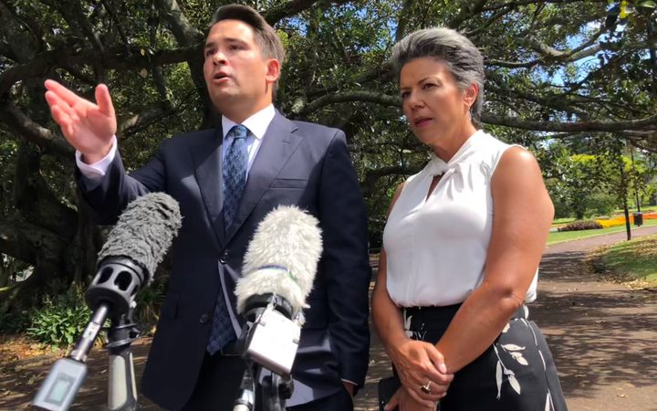 National Party leader Simon Bridges and deputy leader Paula Bennett.
