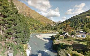 The area around the Shotover Jet base in Queenstown.