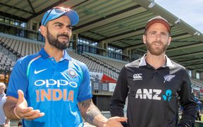 New Zealand and India captains, Kane Williamson and Virat Kohli.