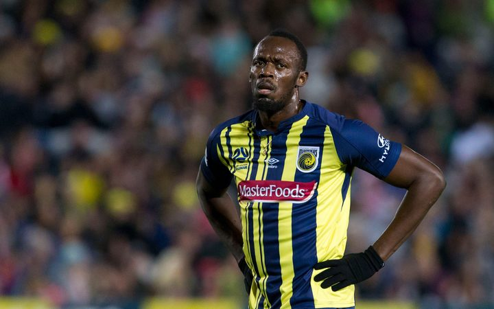 Central Coast Mariners player Usain Bolt.