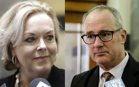 Judith Collins and Phil Twyford.