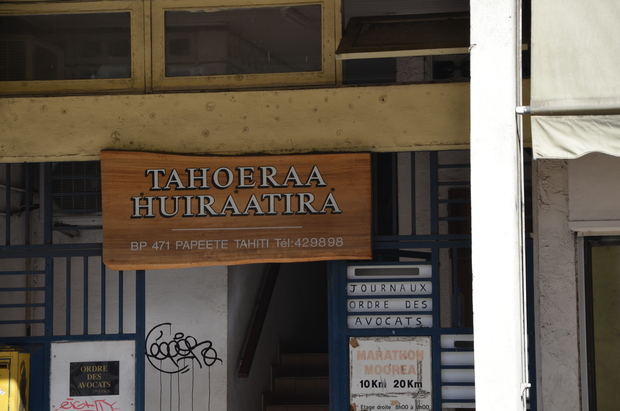 The offices of the Tahoeraa Huiraatira party in French Polynesia
