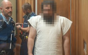 The man accused of stabbing six people in Whanganui. The judge ordered his face must be pixelated.
