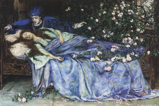 Sleeping Beauty, by Henry Meynell Rheam