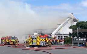 The fire at Auckland Normal Intermediate school.