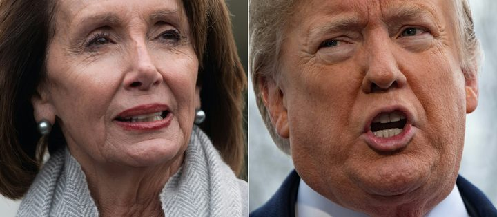 US Speaker of the House Nancy Pelosi and US President Donald Trump.