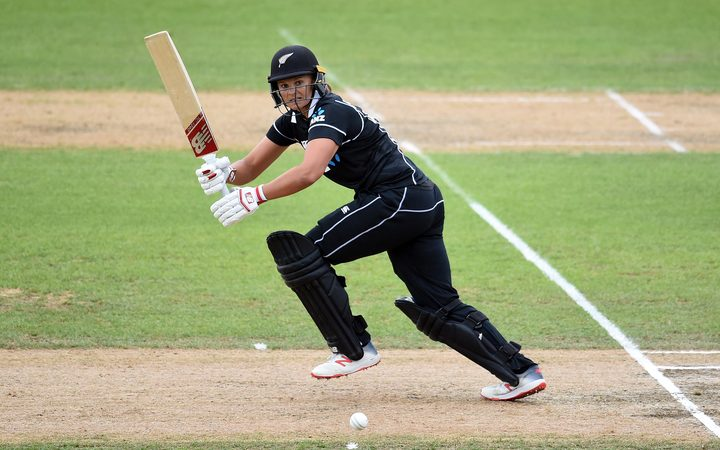 White Ferns opener Suzie Bates top scored in New Zealand's innings.
