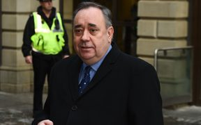 Former Scottish first minister and pro-independence figurehead Alex Salmond.