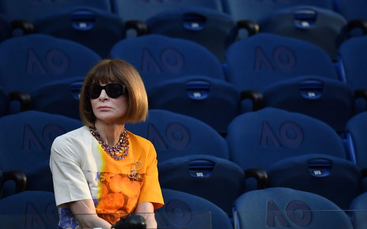 Vogue chief editor Anna Wintour at the Australian Open in Melbourne.