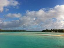 A lagoon in the Cook Islands (Aitutaki?)