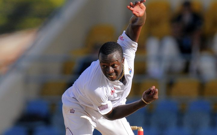 Kemar Roach was the chief destroyer as England were rolled for 77.