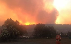 Firefighters have been battling huge blazes in Tasmania this week.