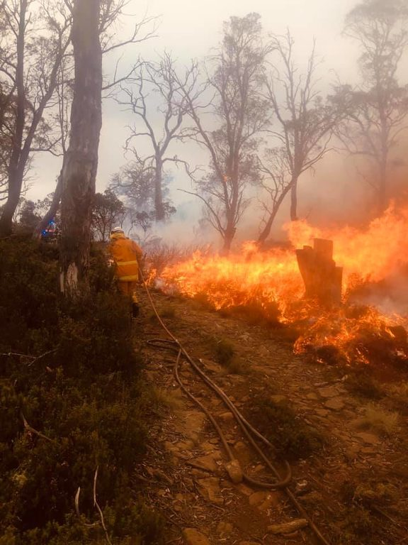 Hundreds of firefighters are now battling blazes in Tasmania.