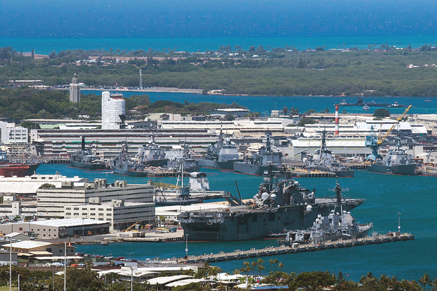 Pearl Harbour in Hawaii where RIMPAC is based.