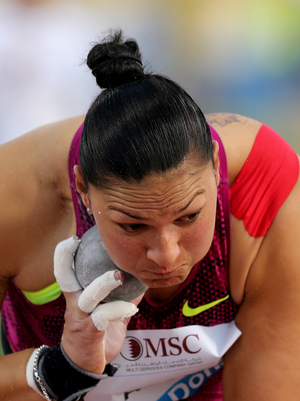 Valerie Adams competing in the IAAF Diamond League series in Doha in May.