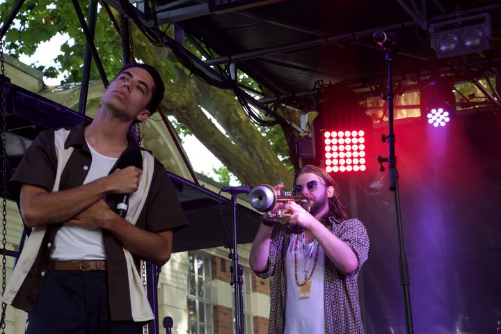 Teeks performing with High Beams at Laneway 2019