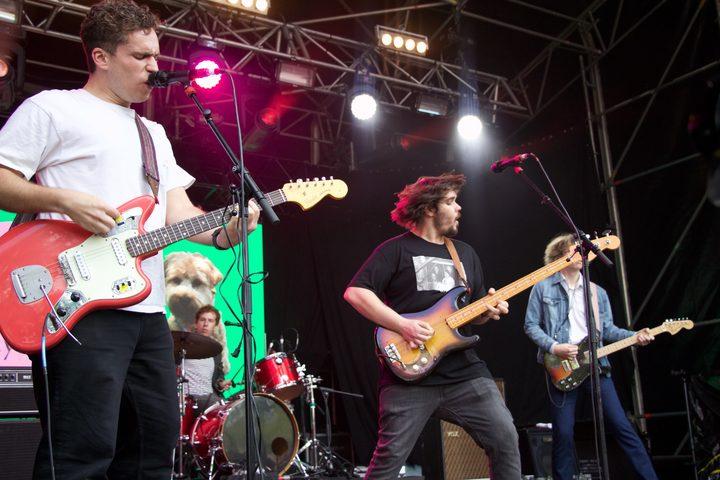 Parquet Courts performing live at Laneway 2019