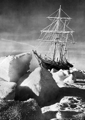 "Antarctic expedition of Ernest Shackleton (1874-1922), British sailor and explorer. The boat ""Endurance"" in the ice of the Weddell Sea. October 1915. RV-67601