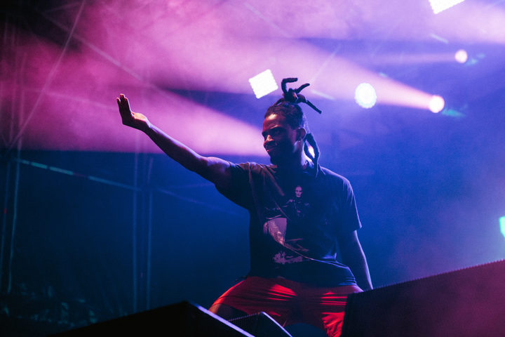 Denzel Curry performing at Laneway 2019