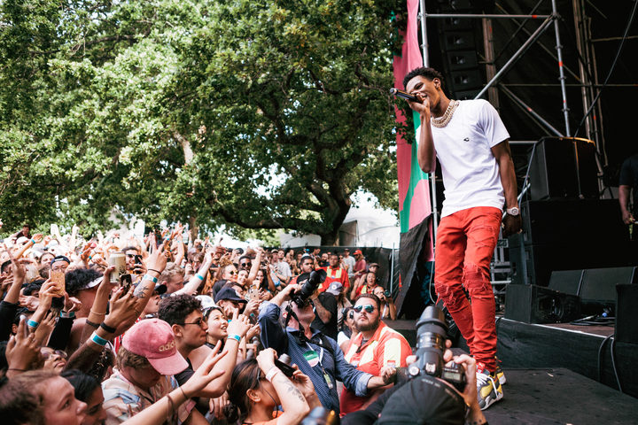 A Boogie wit da Hoodie performing at Laneway 2019