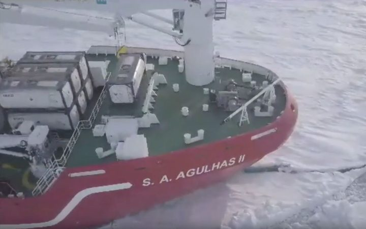 SA Agulhas II is a state-of-the-art ice-breaker and marine research ship.