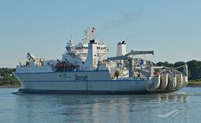 the cable maintenance ship Reliance